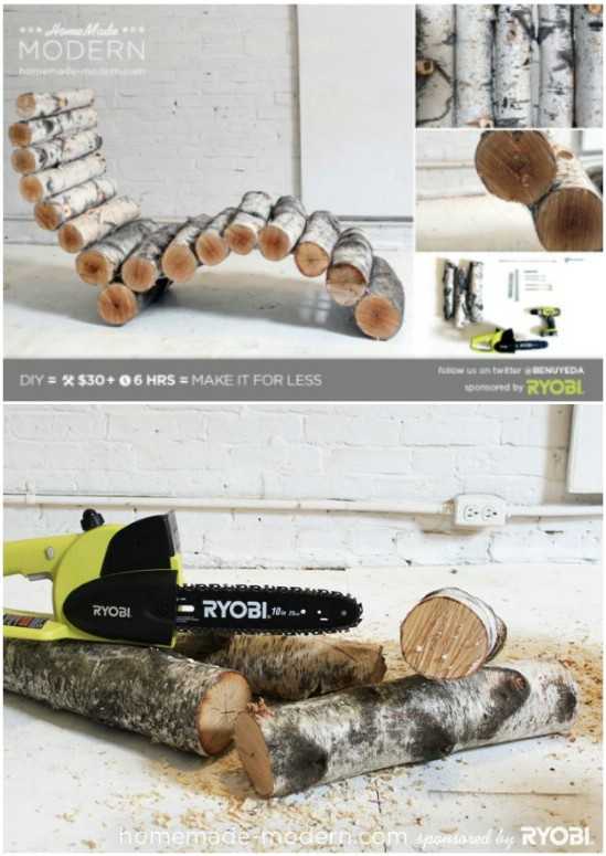 Repurposed Log Lounger