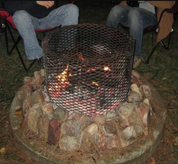 Vertical Drum Fire Pit