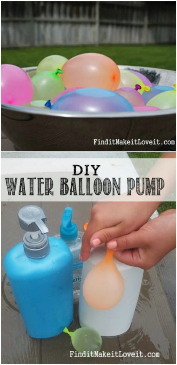 Soap Dispenser Upcycled Into Water Balloon Pump