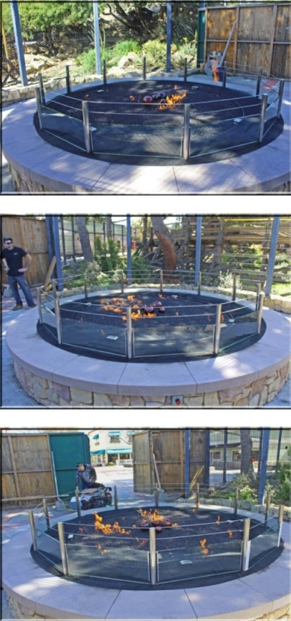 DIY Fire Table With Glass