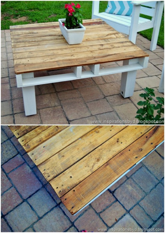 Easy DIY Outdoor Pallet Table