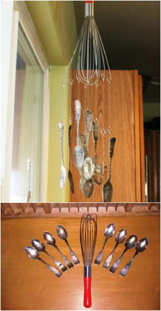 Repurposed Whisk Wind Chime