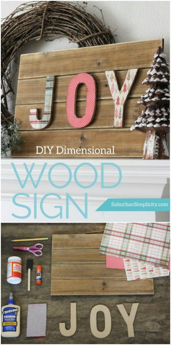 Three Dimensional DIY Holiday Sign