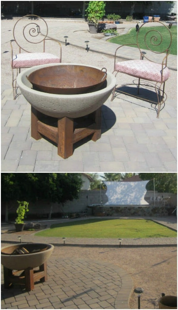 Stone And Metal Fire Pit