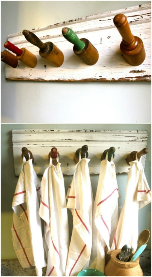 Farmhouse Style Rolling Pin Rack