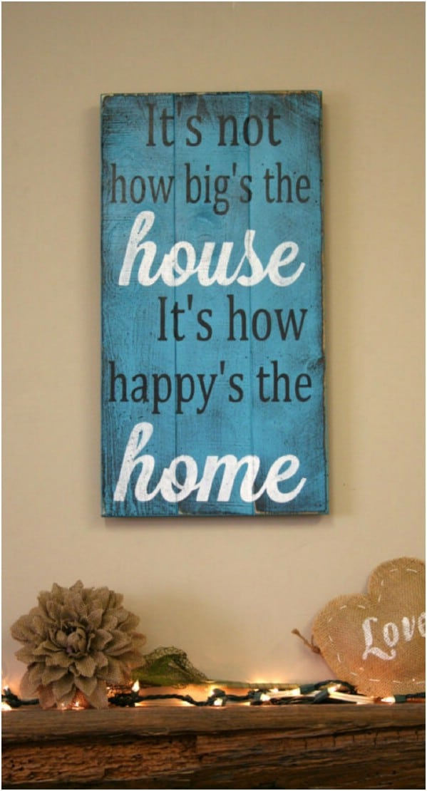 Wooden home decor signs for Home decor signs
