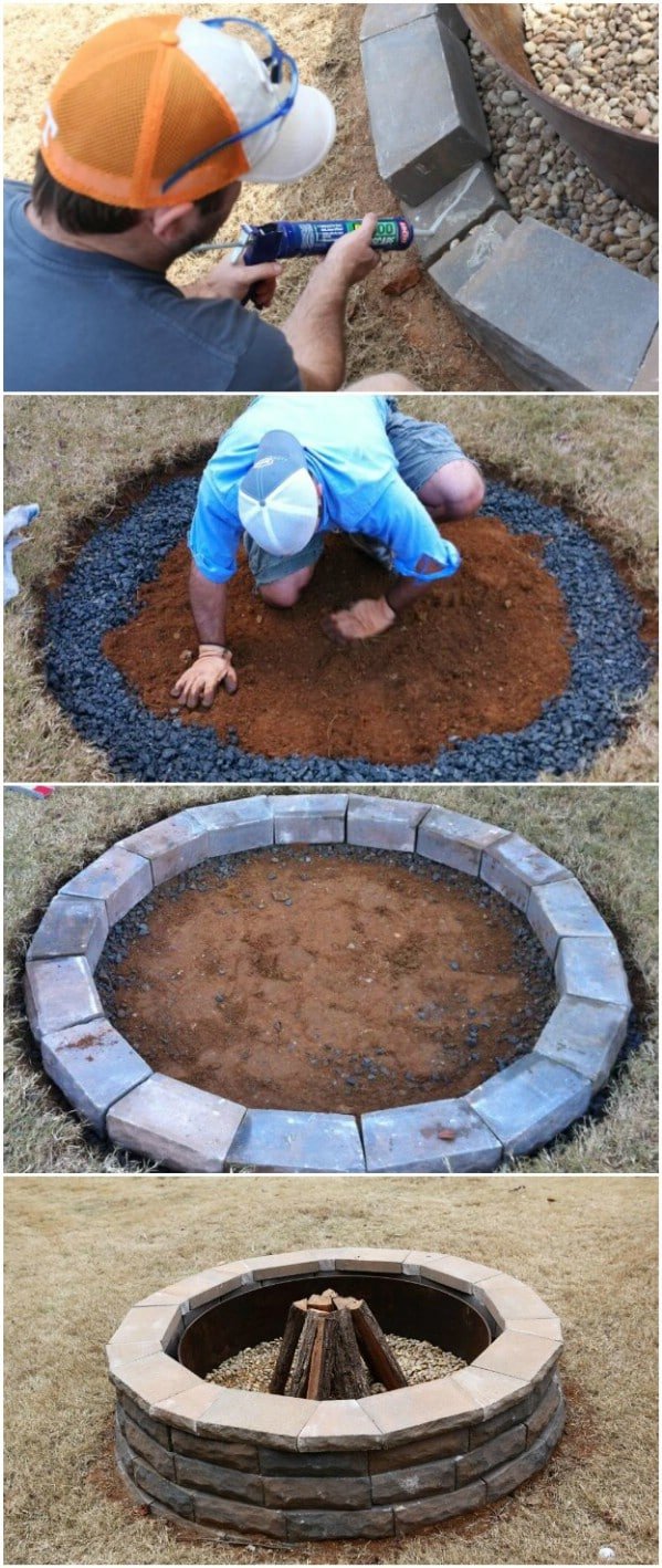 Easy Patio Paver Fire Pit