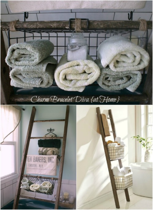 Pottery Barn Inspired Bathroom Storage Shelf