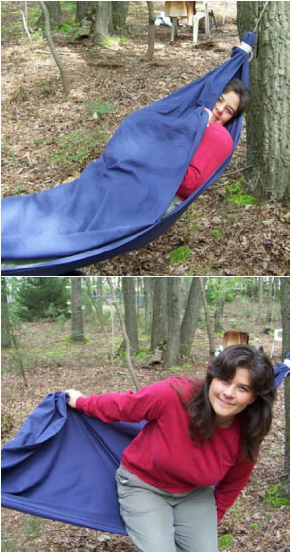 Easy DIY Bed Sheet Hammock