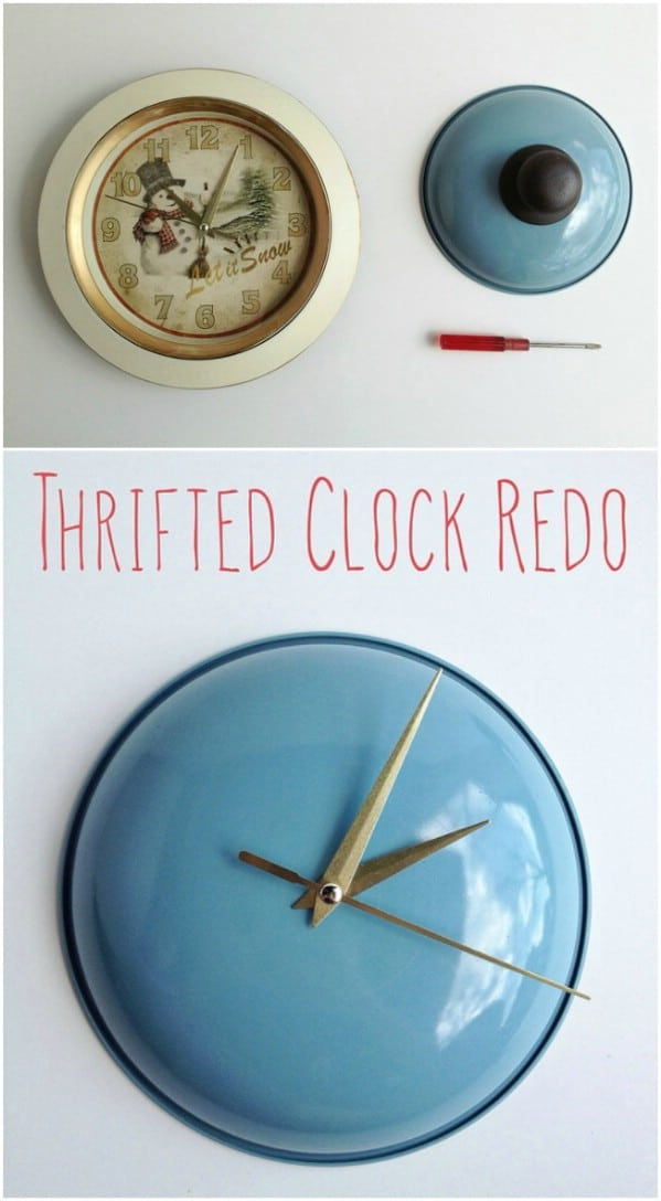 Upcycled Pot Lid Clock