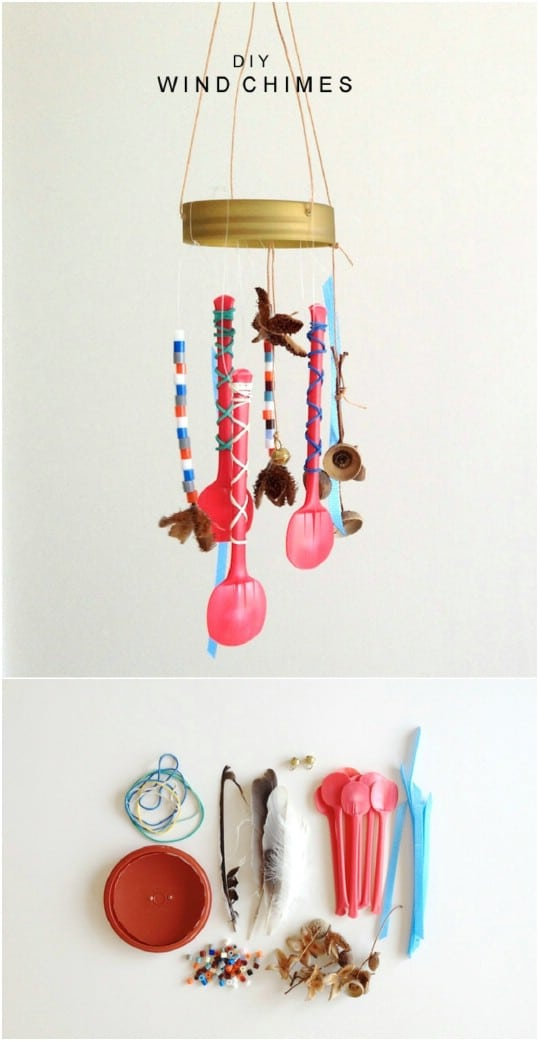 Repurposed Ice Cream Spoon Chime