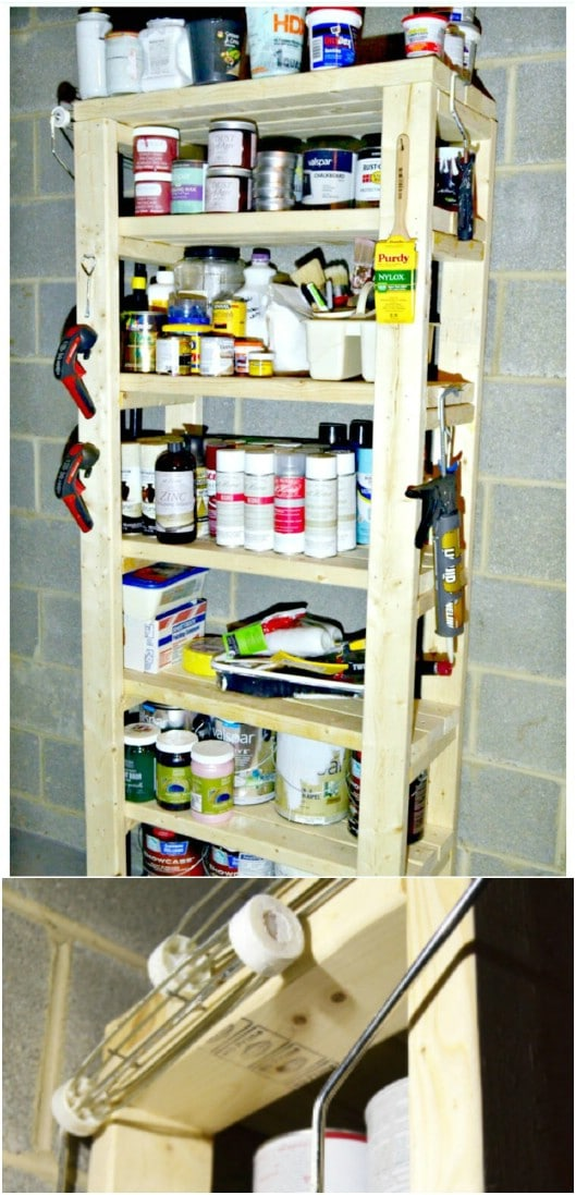 Simple DIY Paint Storage Shelf