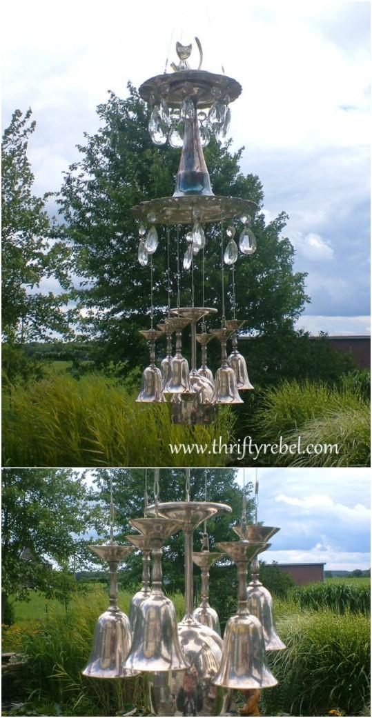 Elegant Silver Goblet Wind Chimes