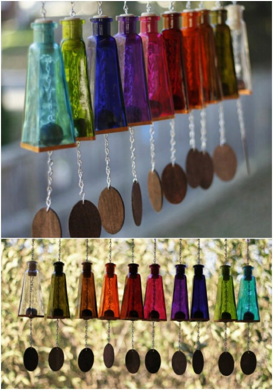 Glass Pyramid Wind Chimes