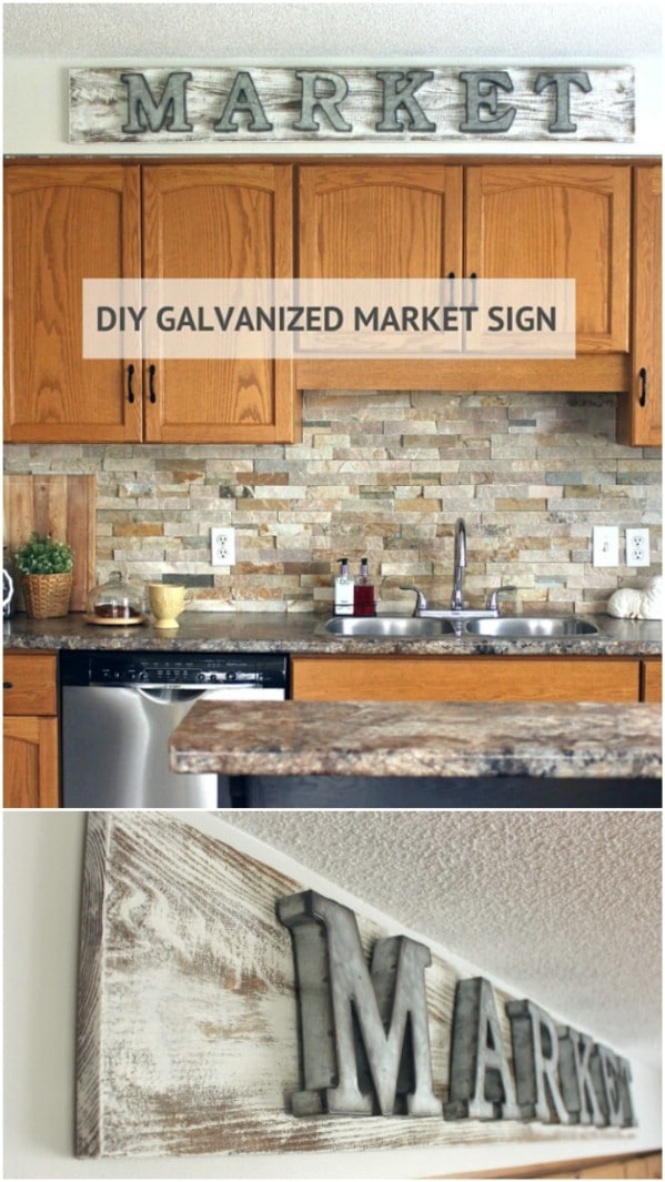 Easy Galvanized Market Sign