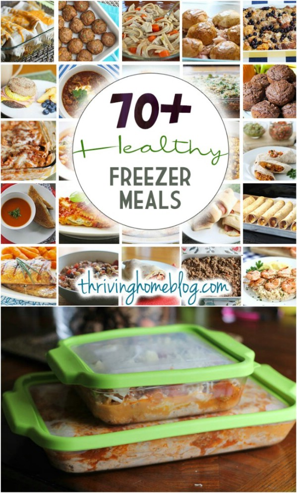 70+ Healthy Freezer Meals