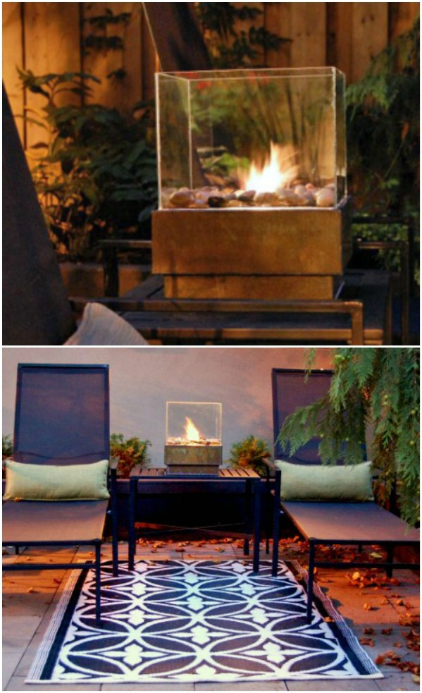 Easy And Inexpensive Tabletop Fire Pit