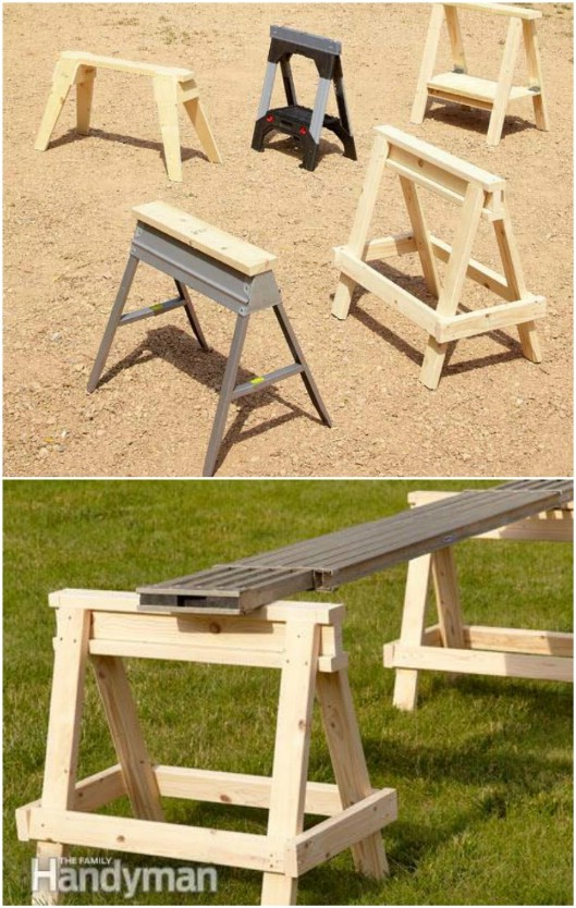 Fast And Easy DIY Sawhorse