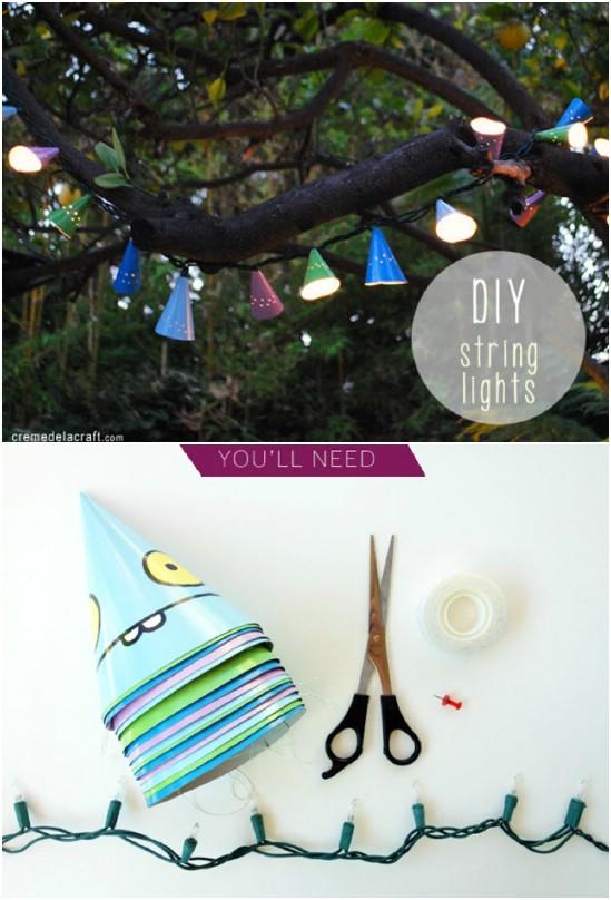 Birthday Hat Café String Lights