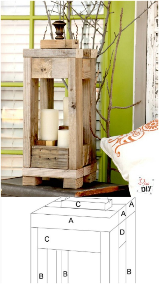 Easy And Affordable Rustic Wooden Lantern