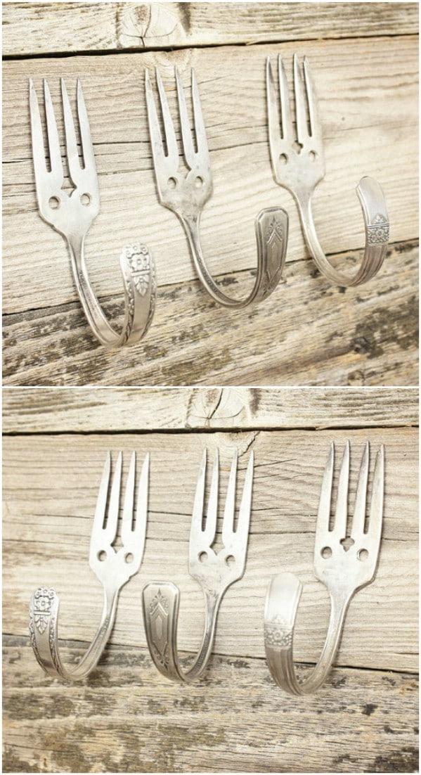 Silver Salad Fork Hooks
