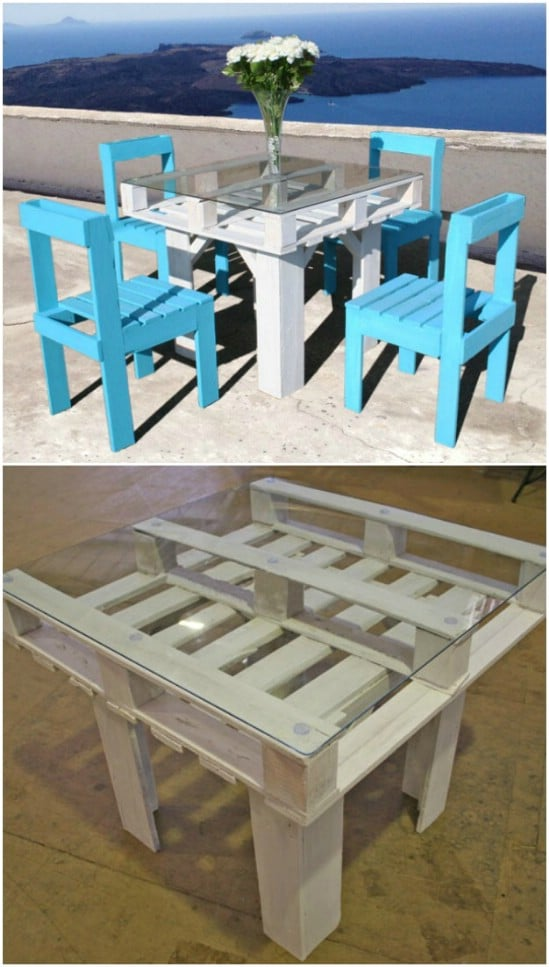 DIY See Through Pallet Table