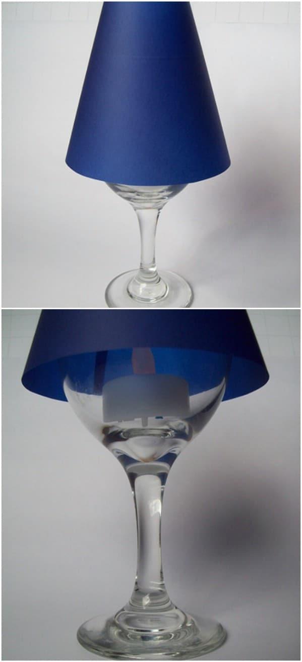 Repurposed Wine Glass Lamps