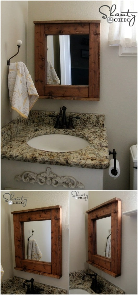 Farmhouse Style Wooden Mirror