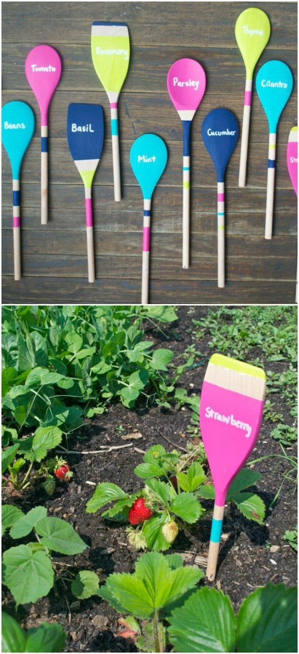 Upcycled Wooden Spoon Garden Markers