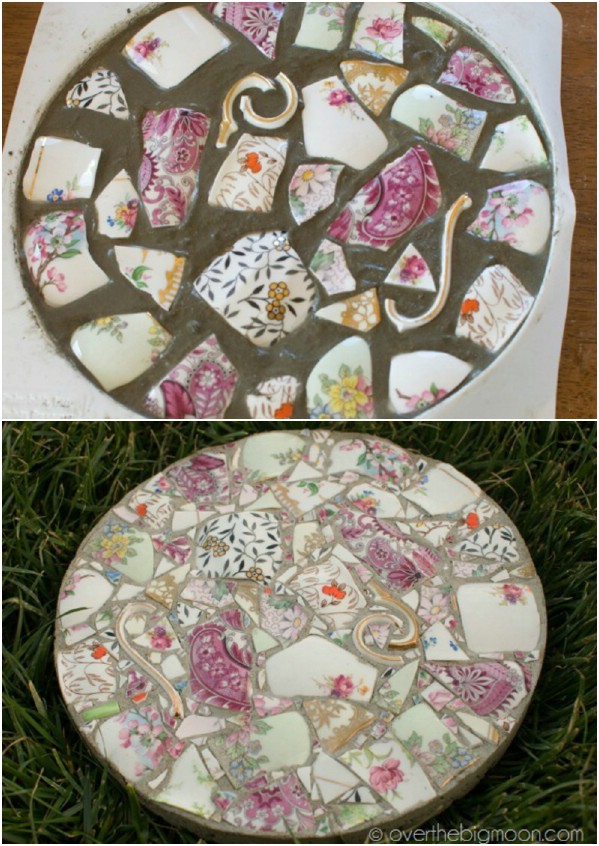 stepping stones from broken dishes garden kits ideas for sale