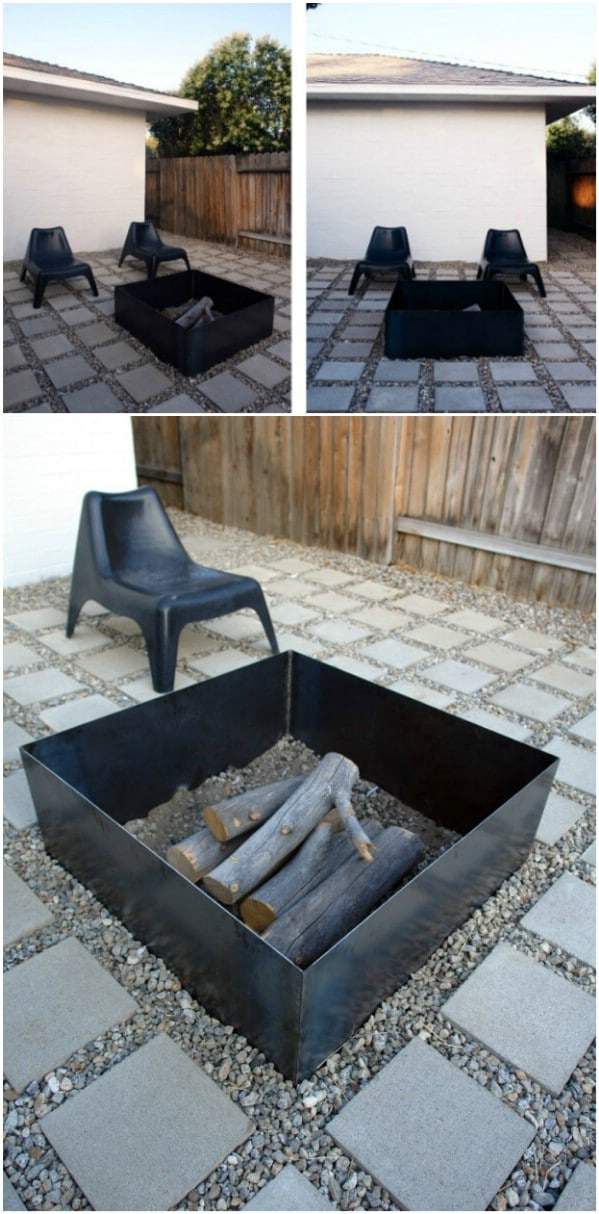 Homemade Steel Box Fire Pit