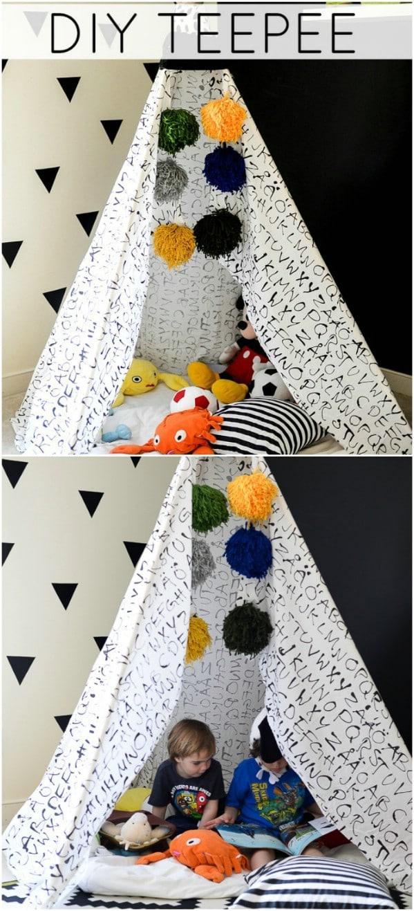 DIY Repurposed Sheet Teepee