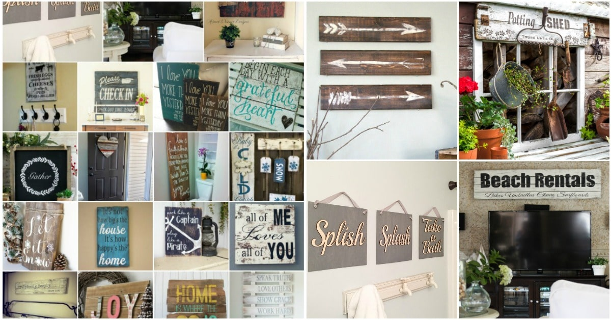 50 Wood Signs That Will Add Rustic Charm To Your Home