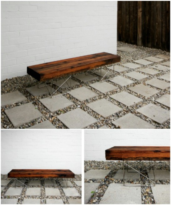 Repurposed Fencing Bench