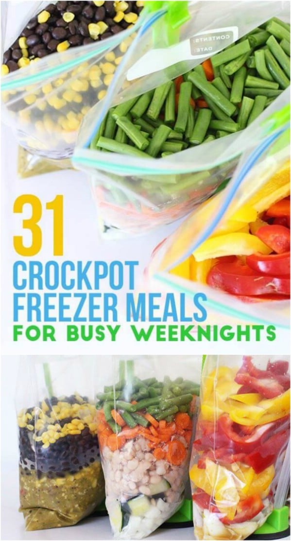 31 Crockpot Freezer Meals