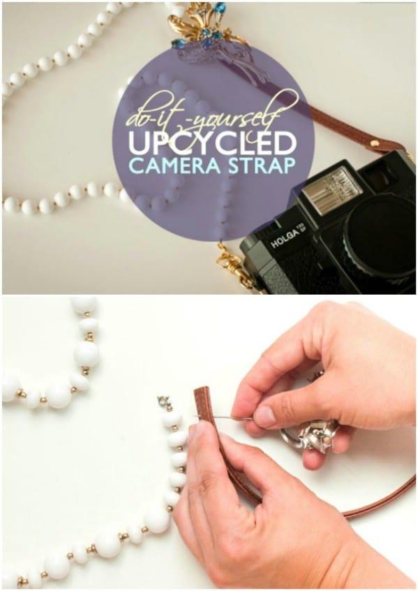 Repurposed Costume Jewelry Camera Strap