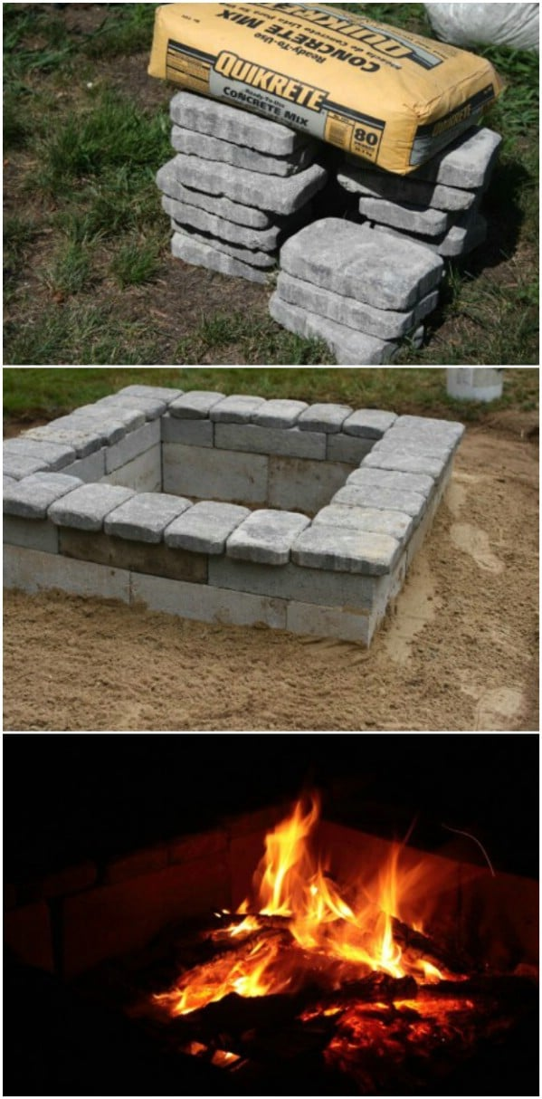 Diy Brick Fire Pit Simple