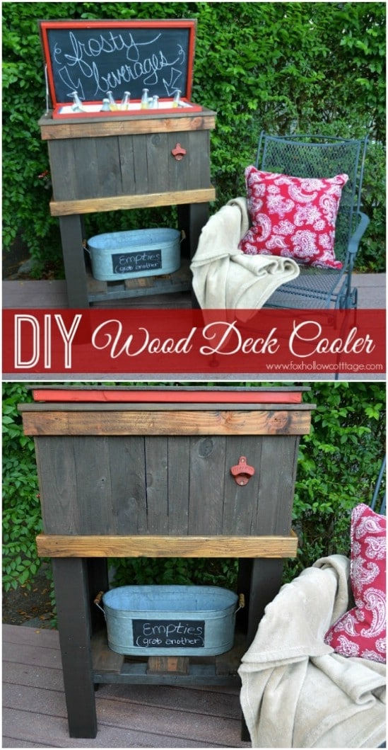 Great Wood Deck Cooler