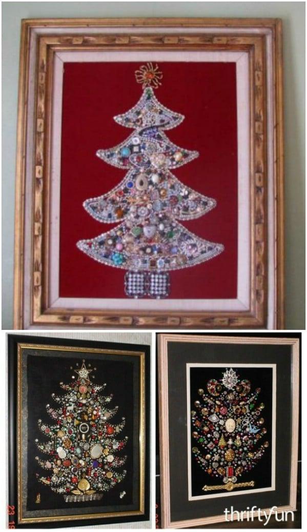 DIY Jeweled Christmas Tree