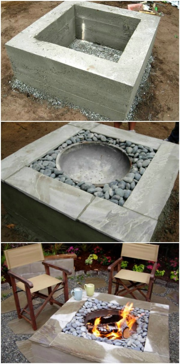 Decorative Concrete Fire Pit