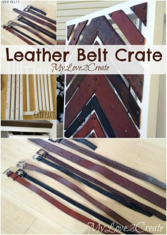 DIY Leather Belt Crate