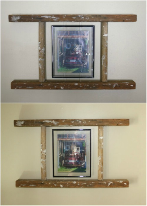 Rustic Floating Picture Frame