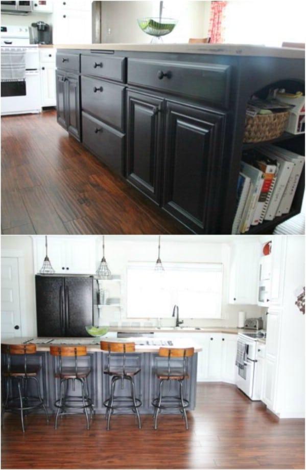 Wood And White Tuxedo Kitchen
