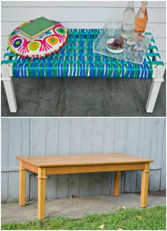 Upcycled Coffee Table Bench
