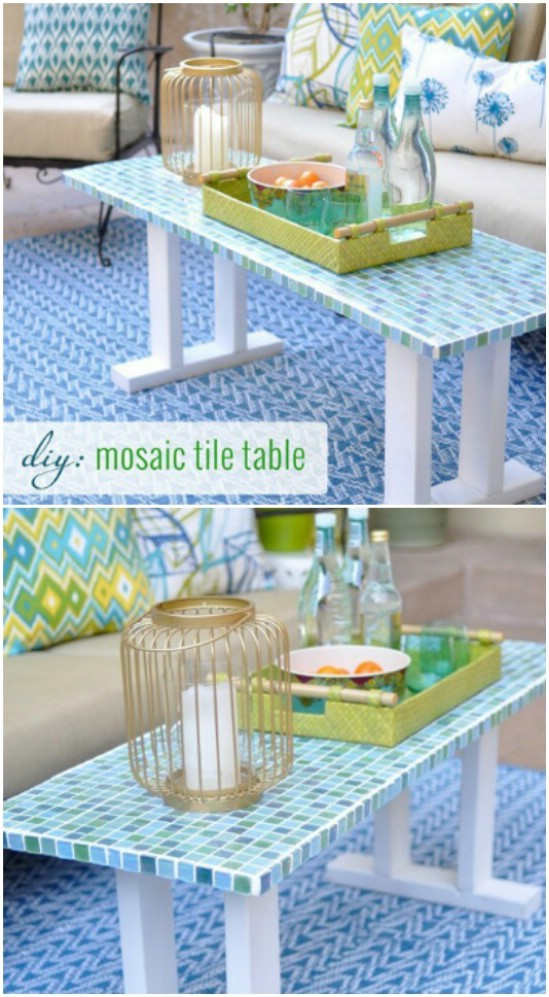 DIY Tile Patio Table