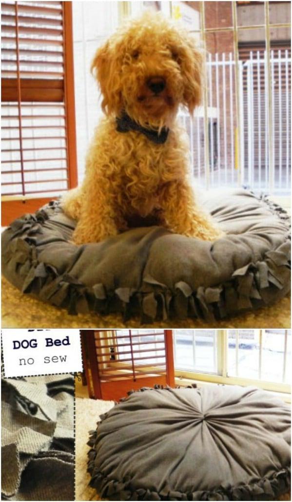 No Sew DIY Dog Bed Pillow