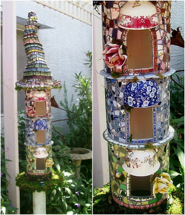 Broken China Fairy House