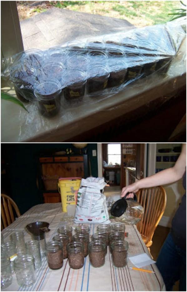Repurposed Mason Jars