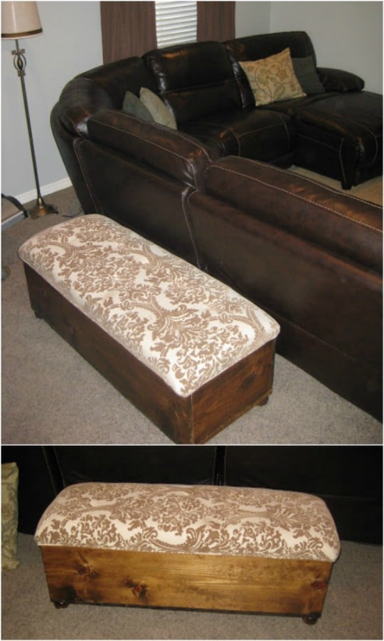 Long Bench Like Storage Ottoman
