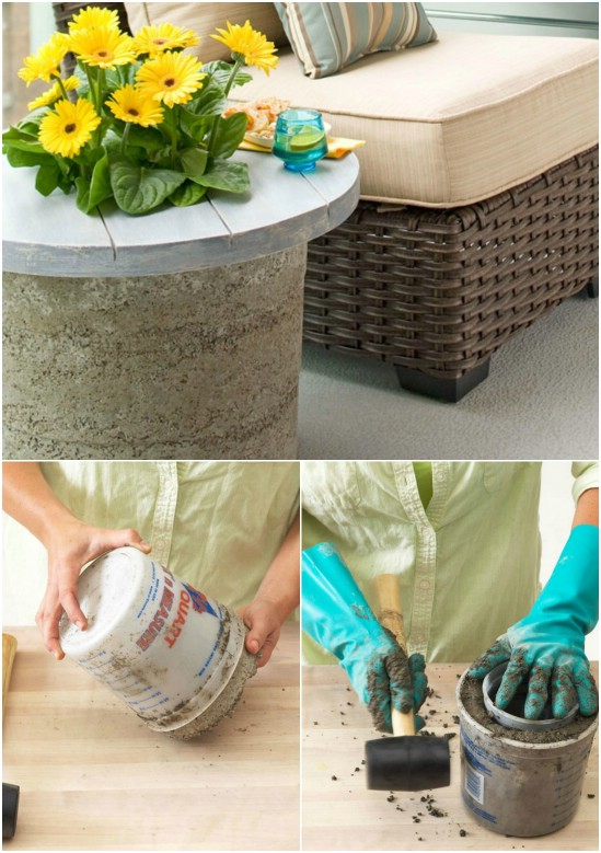 Easy Concrete Side Table